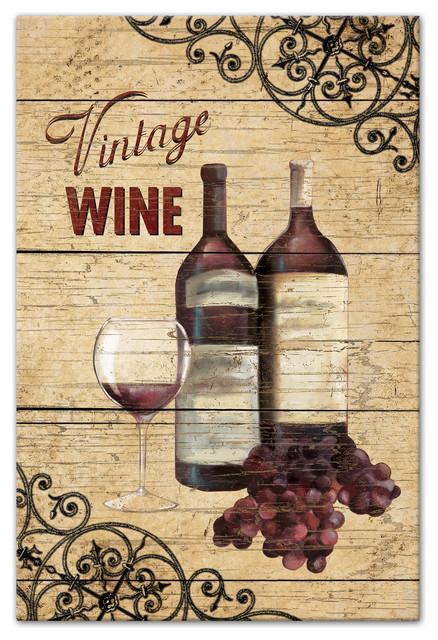 Quot Vintage Wine Quot Canvas Wall Art 24 Quot X36 Quot Farmhouse
