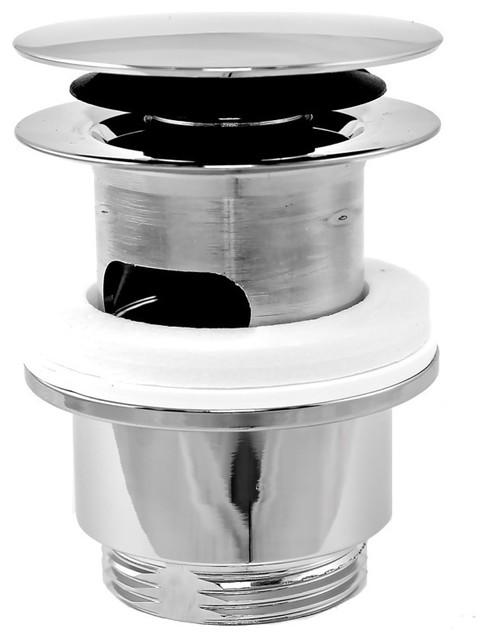 plumbing accessories plumbing accessories brass click clack pop up waste without overflow. Black Bedroom Furniture Sets. Home Design Ideas