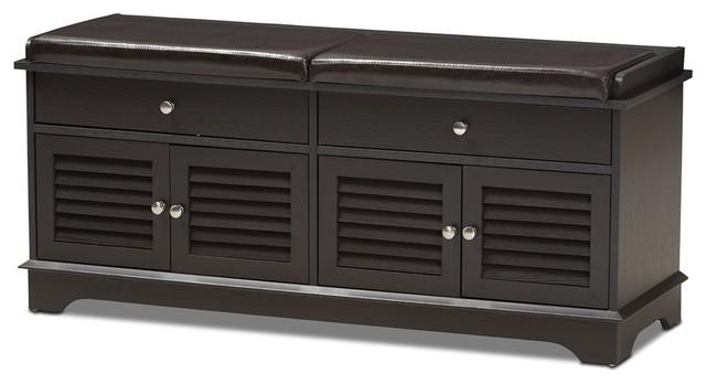 prepac ashley shoe storage bench white. Modern And Contemporary Dark Brown Wood 2-Drawer Shoe Storage Bench Transitional-shoe- Prepac Ashley White 2