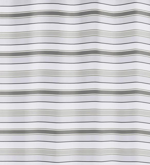 Horizontal Striped Fabric Shower Curtain, Stripes