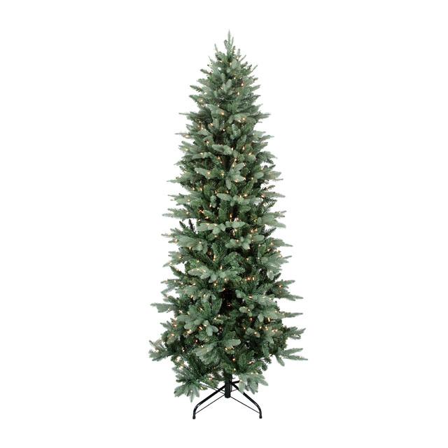 "Washington Frasier PE/PVC Slim Tree 1137 Tips 400 Clear Lights, 6.5'x39"""
