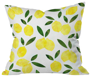 "Hello Sayang Lemon Drops Outdoor Throw Pillow, 16""x16"""