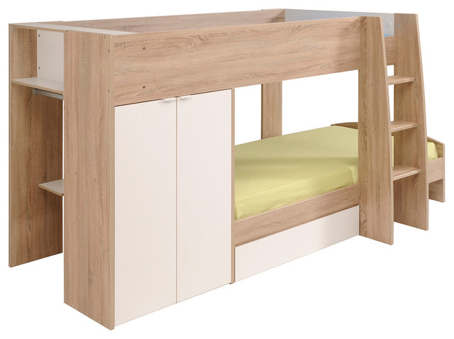 Stim Bunk Twin-Over-Twin Bed (2 Mattresses Included).