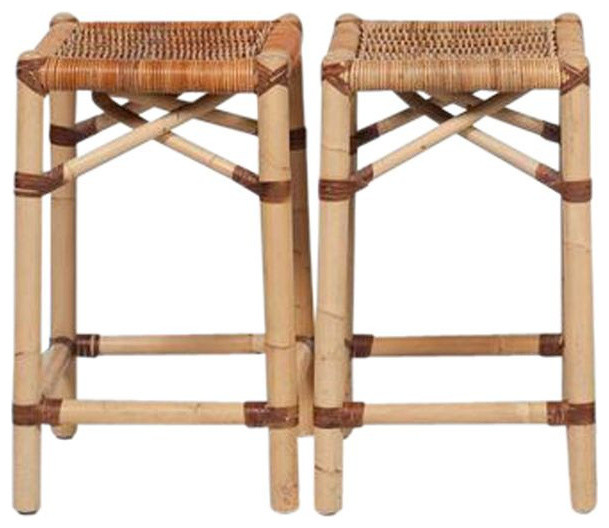 SOLD OUT! Set of 2 Bamboo Counter Stools by Palacek - $1,300 Est ...