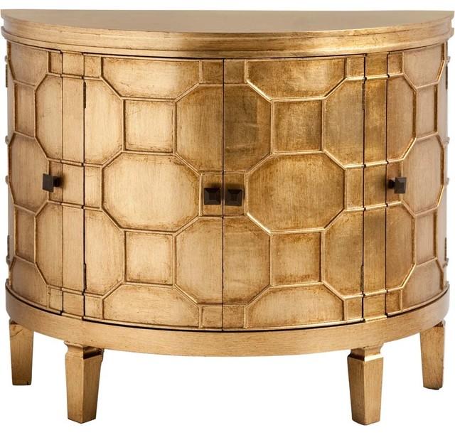 Mercana Modern Cabinet, Gold.