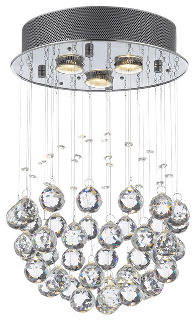 Modern Chandelier Rain Drop Crystal Ball Ceiling Lamp Contemporary - Chandelier drop crystals