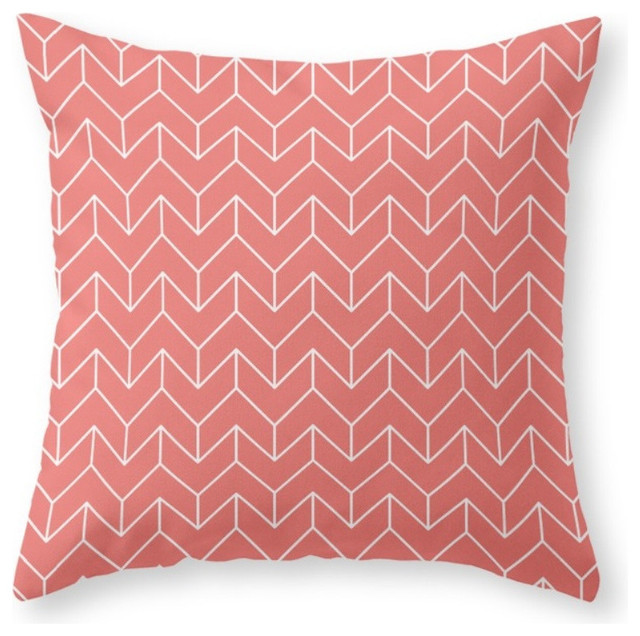 Society6 Chevron, Throw Pillow - Scandinavian - Decorative Pillows - by Society6