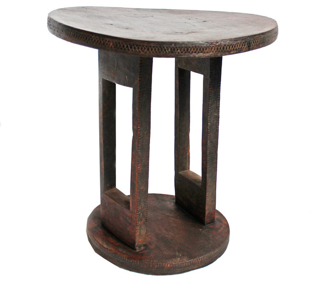 Attractive Ethiopian Wood Carved Table Tropical Side Tables And End Tables