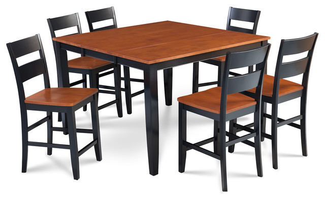 sunderland 7 piece counter height dining set 18 butterfly leaf