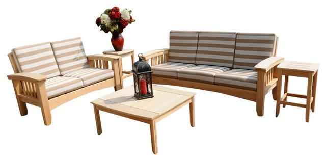 Hershy Way Deep Seating 5 Piece Set Craftsman Outdoor