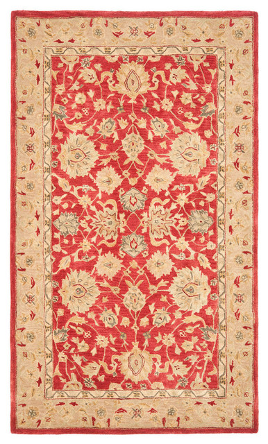 Safavieh Paynter Hand Tufted Rug, Red And Ivory, 9&x27;x12&x27;.