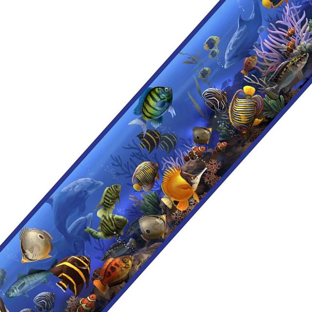 Under Sea Ocean Fish Self Stick Accent Wall Border beach-style-kids-wall - Under Sea Ocean Fish Self Stick Accent Wall Border - Beach Style