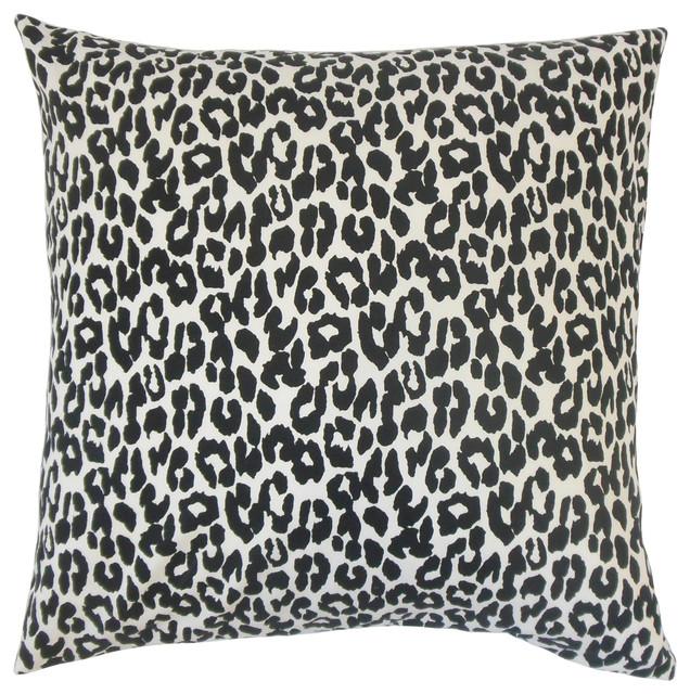 Animal Print Euro Pillow Shams : Olesia Animal Print Bedding Sham Black, Euro - Contemporary - Pillowcases And Shams - by The ...