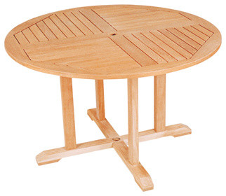 Round Teak Dining Table Traditional Outdoor Dining Tables