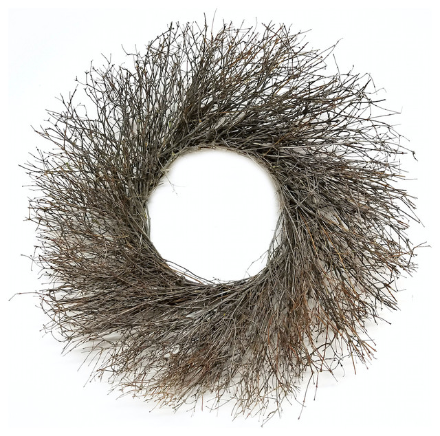 Natural Quail Brush Twig Indoor/outdoor Dried Wreath, 30.