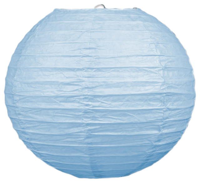 "Beistle 9 1/2"" Paper Lanterns, Light Blue, Set Of 18."