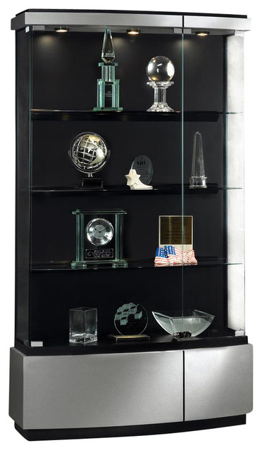Waddell Quantum Full Floor Display Case in Brushed Silver Finish - China Cabinets And Hutches ...