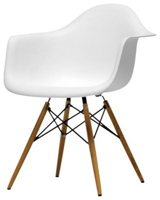 a01ed3212f2 Fine Mod Imports WoodLeg Dining Arm Chair