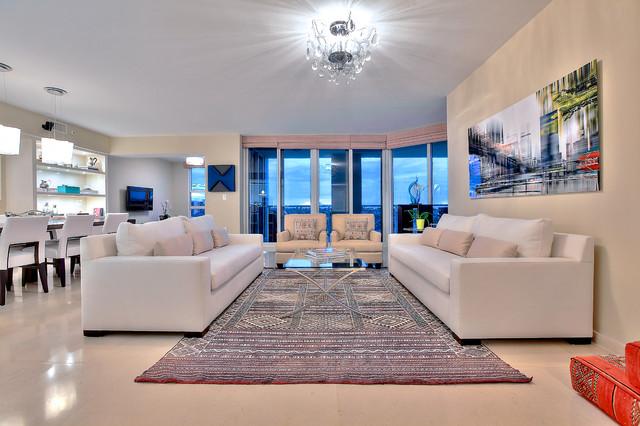 Key Biscayne Contemporary Living Room Miami By Corners Interior Design Llc