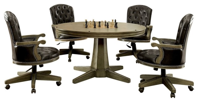 5-Piece Hartwell Game Table and Chair Set - Traditional - Gaming