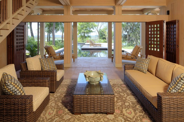 Dogtrot foyer   tropical   porch   other   by frederick   ...