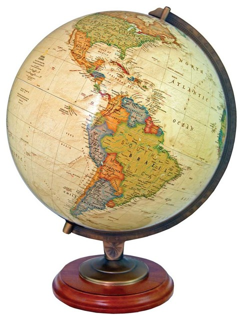 Adams Illuminated Desktop World Globe By National Geographic Traditional World Globes on Walmart Office Chairs