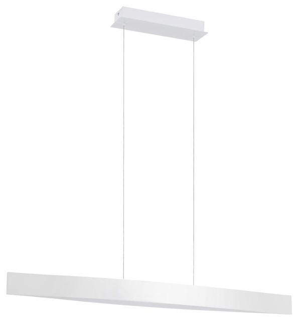 Fornes 4-Light Pendant, Glossy White.