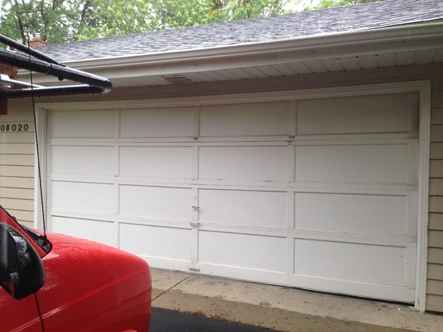 Garage door installs traditional