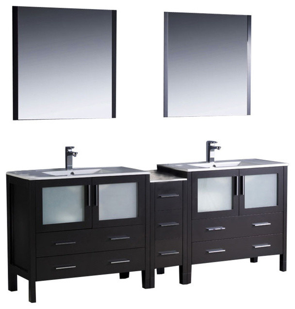 84 Inch Double Sink Bathroom Vanity Contemporary Bathroom Vanities And Si