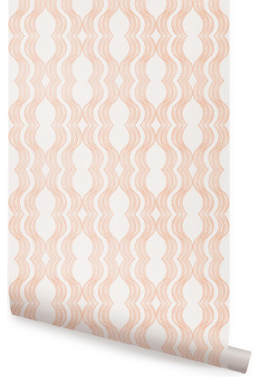 Wave view in your room houzz for Orange peel and stick wallpaper