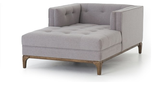 Denley Mid Century Chaise   Heather Grey