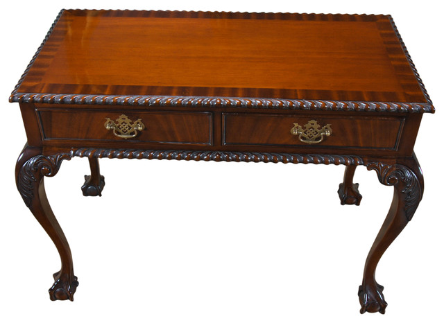 Merveilleux Mahogany Ball And Claw Console