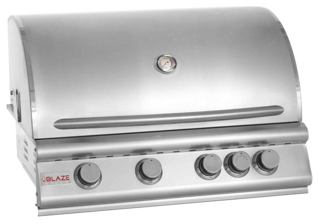 "Blaze 40"" 5-Burner Gas Grill With Rear Burner, Propane."