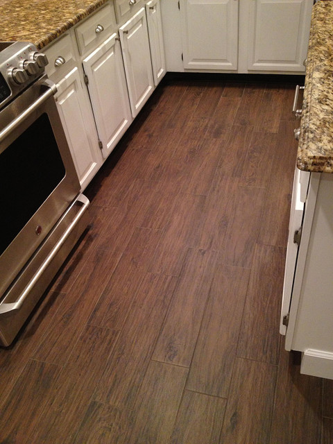 Porcelain Plank Wood Look Tile Installations Tampa, Florida Traditional