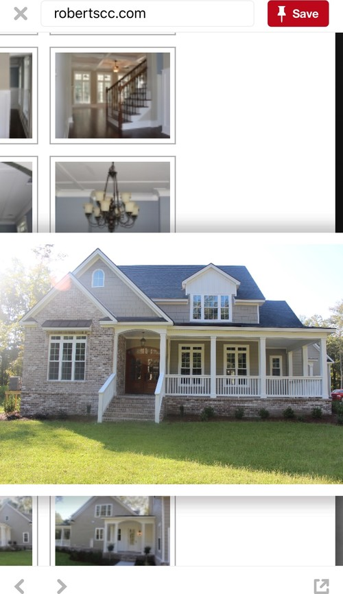 I'm gonna post of a picture of our house drawing and then a picture of a  house I like for inspiration. Please help!