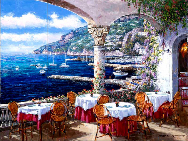 Tile Mural Amalfi Terrace By Sam Park Soho Editions