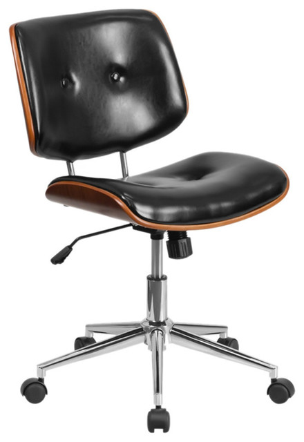 Office Products Chairs & Sofas Ergonomic Home MID-Back Black ...