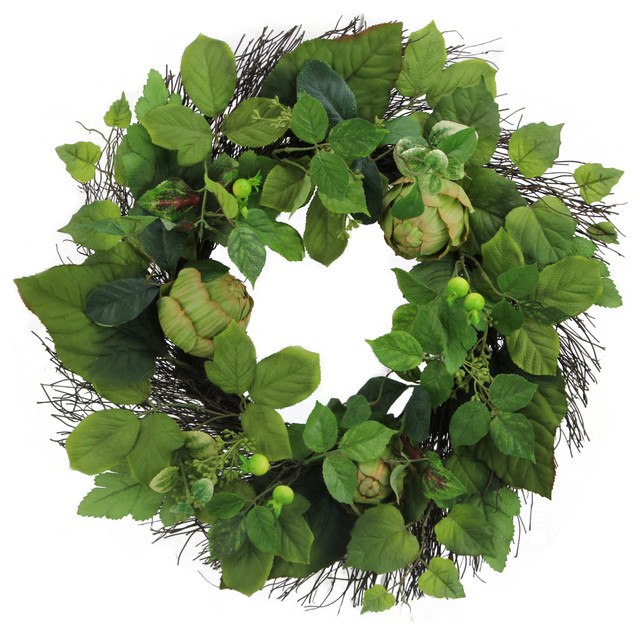 """24"""" Artichoke Wreath Spring Greenery"""