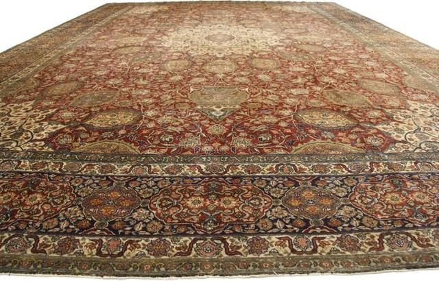 Antique Persian Tabriz Palace Size Rug