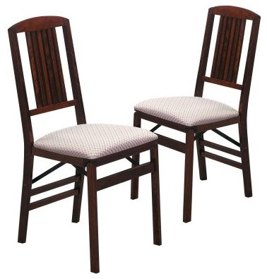 hayneedle stakmore simple mission wood folding chairs with