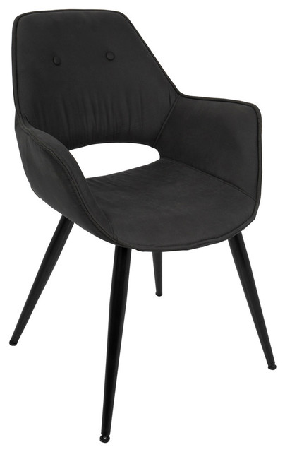 Lumisource Mustang Accent Chair, Black, Set of 2