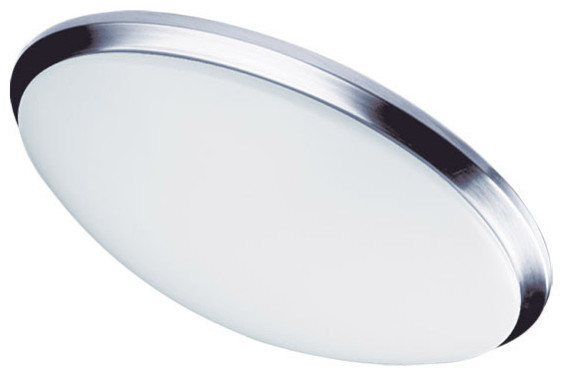 Signature 1-Light Flush Mount, Polished Chrome.