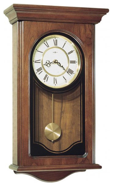 Howard Miller Orland Quartz Wall Clock With Cherry Finish