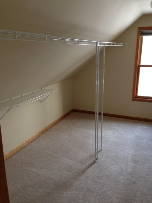 Help With An Odd Shaped Walk In Closet: odd shaped mirrors