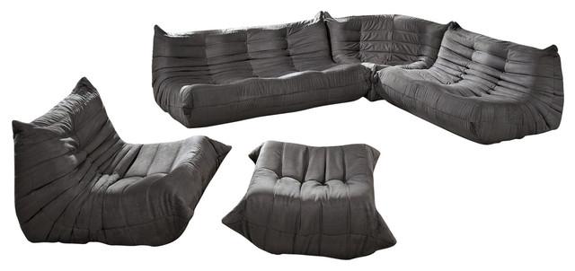 Modway Eei 558 Lgr Waverunner Sofa Set Light Gray