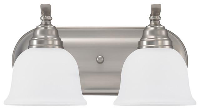 Sea Gull Lighting 44236 962 2 Light Brushed Nickel: Sea Gull Lighting 2-Light Wheaton Sconce