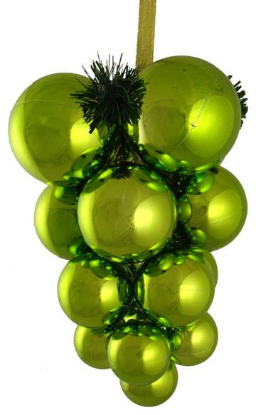 Kiwi Green Shatterproof Christmas Ball Ornament Grape Cluster Decoration 10