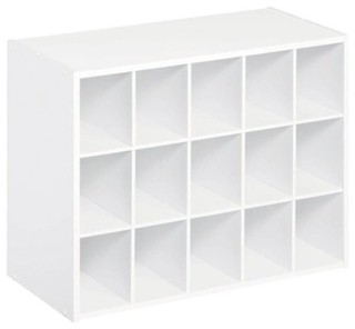ClosetMaid 15-Unit Organizer, White - Contemporary ...