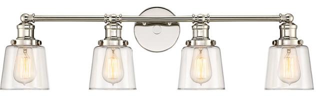 Quoizel Union Bath Light, Polished Nickel.