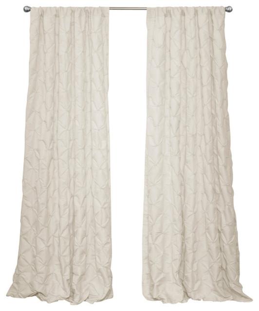 Lake Como Window Panel Single Ivory 50x84